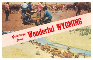 Postcards - Advertising - Wyoming