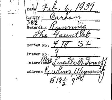 Wyoming WPA Subject File, Carbon County towns