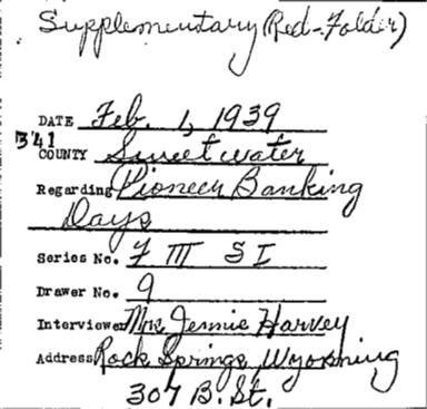 Wyoming WPA Subject File, Wyoming towns