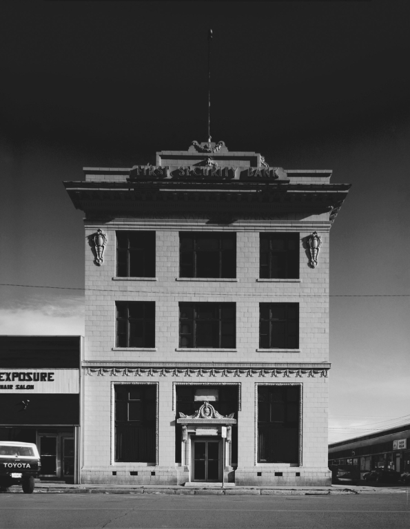 Front of the Old First National Bank