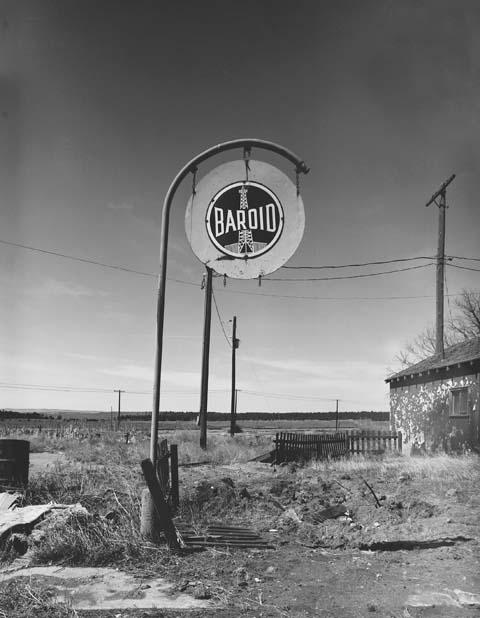 Baroil Sign, Clay Spur Bentonite Plant