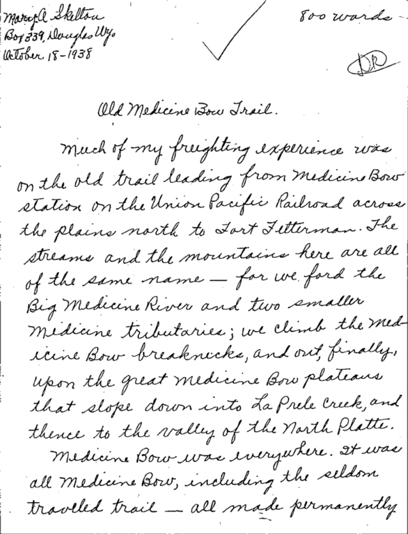 "WPA Subject 1411 Hooker, William ""The Bullwhacker"""