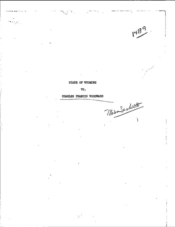 WPA Subject 1489 Natrona County crimes and criminals