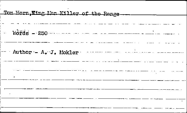 WPA Subject 1509 Natrona County Casper