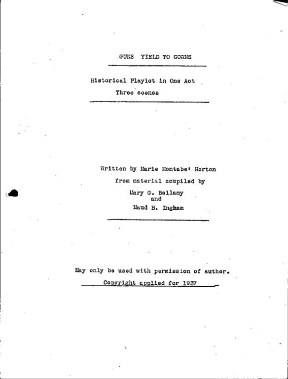 WPA Subject 159 Woman suffrage