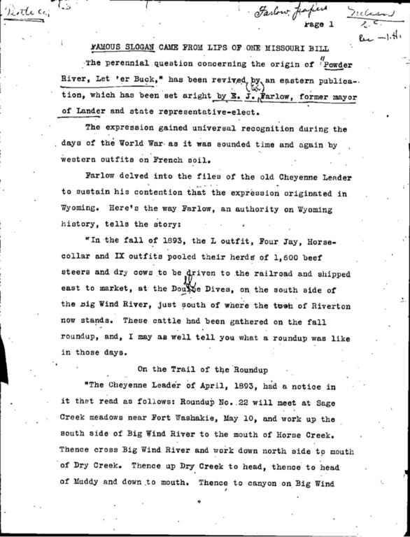 """WPA Subject 1646 """"Powder River Let 'er buck!"""""""